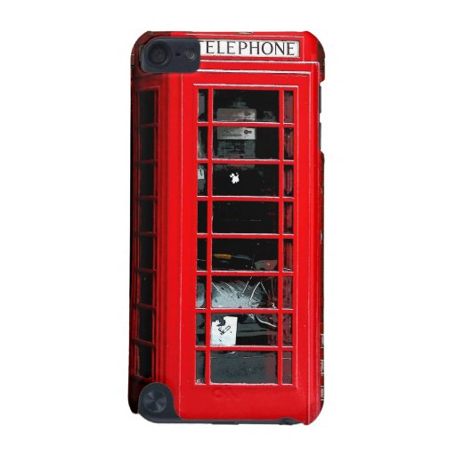 Red Phone Box London England UK iPod Touch (5th Generation) Cover
