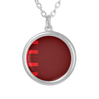 Red Piano Keys Silver Plated Necklace
