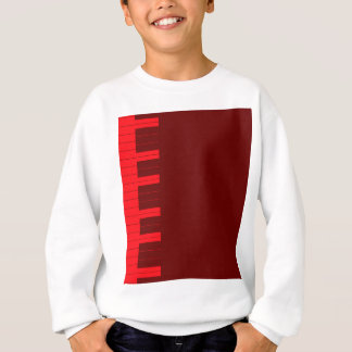 Red Piano Keys Sweatshirt