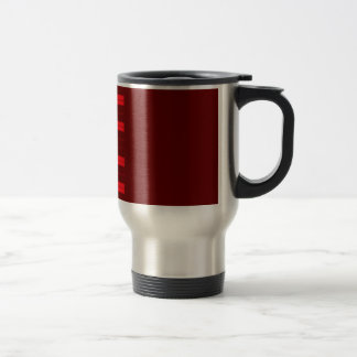 Red Piano Keys Travel Mug
