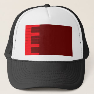 Red Piano Keys Trucker Hat