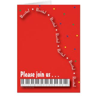 Red Piano Recital Invitation