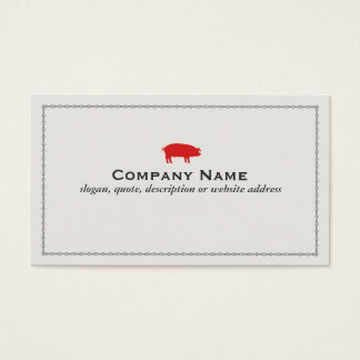 Red Pig Barbecue Pork Business Card