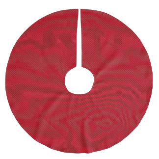 Red Pile Background Brushed Polyester Tree Skirt