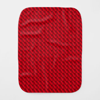 Red Pile Background Burp Cloth
