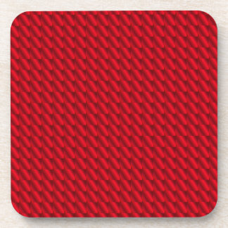 Red Pile Background Coaster