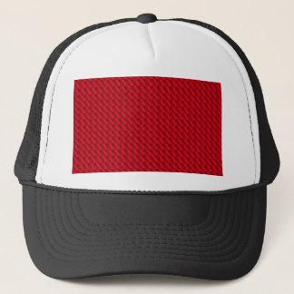 Red Pile Background Trucker Hat