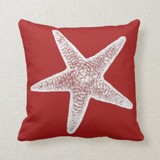 Red Pillow with Starfish