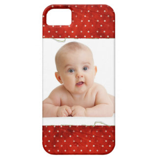 Red pin dots with photo iPhone 5 cover