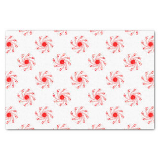 Red Pin Wheel Tissue Paper