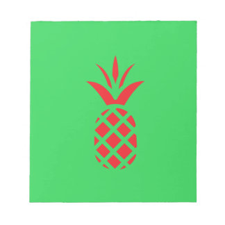 Red Pine apple in  Green Notepad