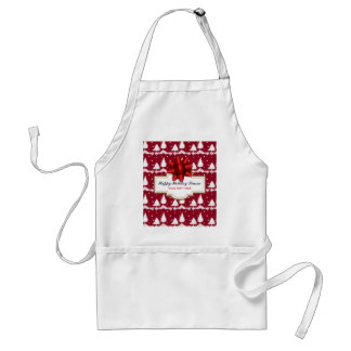Red Pine Trees Holly and Snow Standard Apron