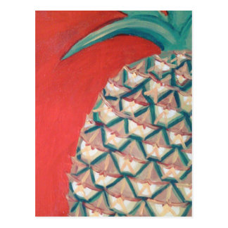 Red Pineapple Postcard