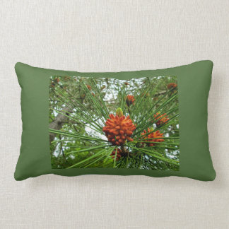 Red Pines or Norway Pine Flowers Accent Pillows