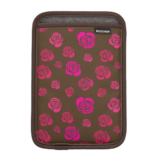 Red Pink and Magenta Roses in a Flowery Pattern iPad Mini Sleeve