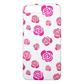 Red Pink and Magenta Roses in a Flowery Pattern iPhone 8 Plus/7 Plus Case