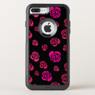 Red Pink and Magenta Roses in a Flowery Pattern OtterBox Commuter iPhone 8 Plus/7 Plus Case