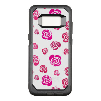 Red Pink and Magenta Roses in a Flowery Pattern OtterBox Commuter Samsung Galaxy S8 Case
