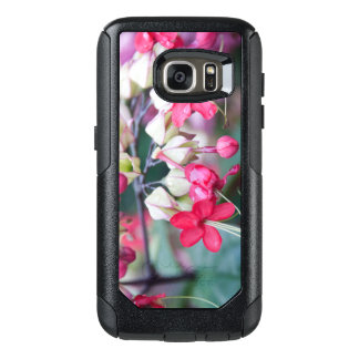 Red Pink and White Tropical Flowers OtterBox Samsung Galaxy S7 Case
