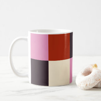 Red Pink Eggplant Ivory Stylish Coffee Mug