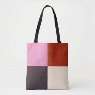 Red Pink Eggplant Ivory Tote Bag