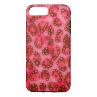 Red Pink Glowing Cheetah iPhone 7 Plus Case