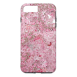 Red & Pink Leopard Camouflage Spots iPhone 8 Plus/7 Plus Case
