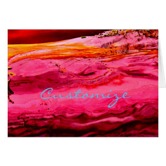 red/pink maui wave  Thunder_Cove Card