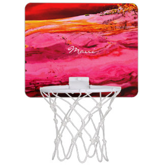 red/pink maui waves Thunder_Cove Mini Basketball Hoop