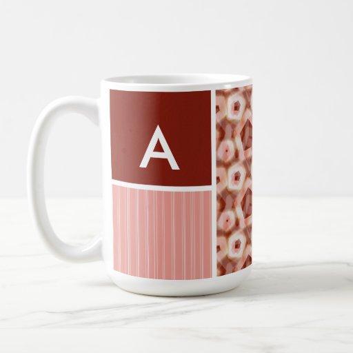 Red & Pink Pentagon Pattern Mug