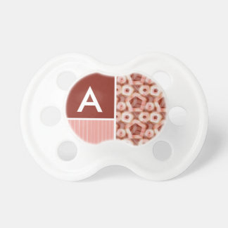 Red Pink Pentagon Pattern Baby Pacifiers