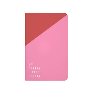 Red & pink pocket journal with customizable text