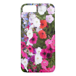 Red pink purple and white petunia flowers Case-Mate iPhone case