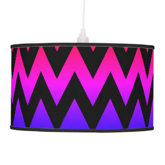 Red Pink Purple Blue Gradient Chevron Pendant Lamp