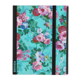 Red & Pink Vintage Roses 2 iPad Cover