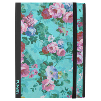"Red & Pink Vintage Roses iPad Pro 12.9"" Case"