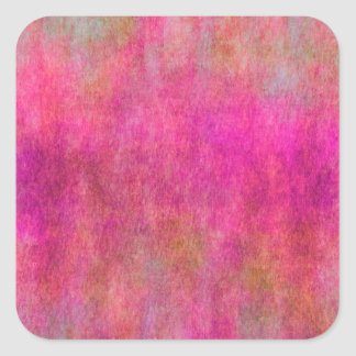 Red Pink Watercolor Texture Background Square Sticker