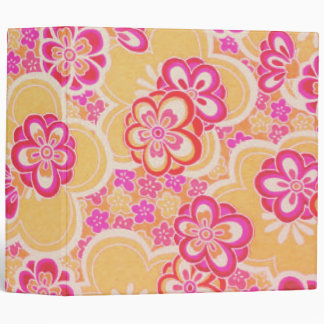 Red, Pink, Yellow & White Tropical Flowers 3 Ring Binders