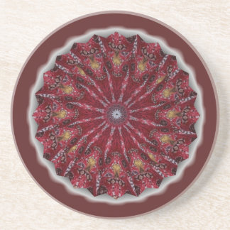 Red Pinwheel Coaster
