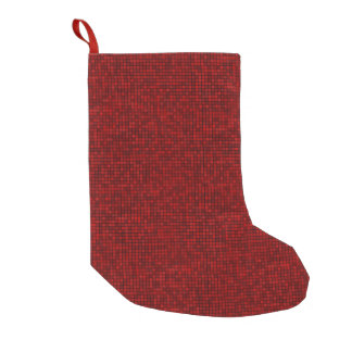 Red Pixel Christmas Stocking