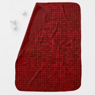 Red Pixel Pattern Baby Blanket