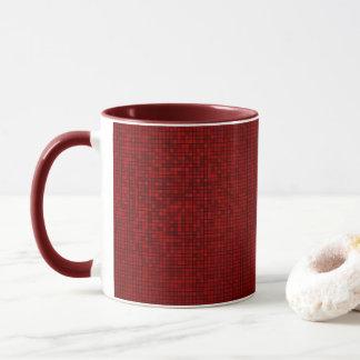 Red Pixel Pattern Mug