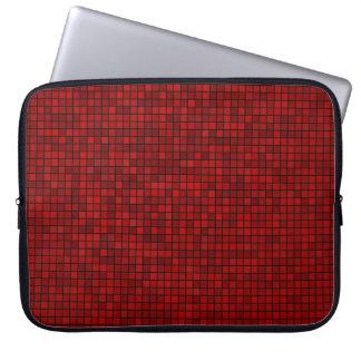 Red Pixel Pattern Neoprene Laptop Sleeve