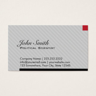 Red Pixel Political Scientist Business Card