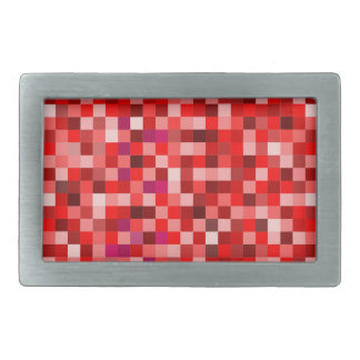 Red pixels belt buckle