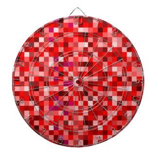 Red pixels dartboard