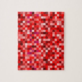 Red pixels jigsaw puzzle