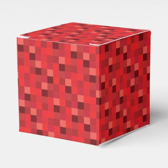 Red Pixels Pattern Wedding Favor Boxes