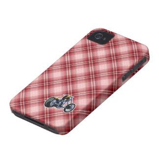 Red Plaid Chopper iPhone 4 Case