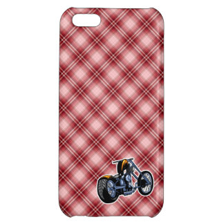 Red Plaid Chopper Case For iPhone 5C